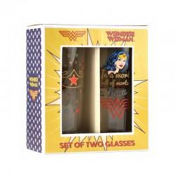 Set vasos vintage WONDER WOMAN